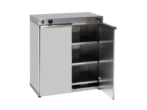 Saro Tellerwärmer Doppel | 120 Teller | 1,5 kW | 800x460x(h)570mm