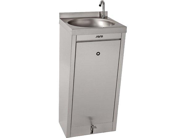 Saro Handwaschbecken mit Fußbedienung | 400x400x(h)910mm