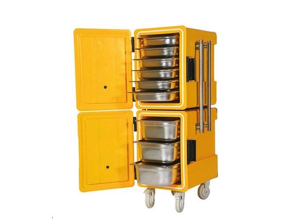 Saro Thermo-Transportbehälter auf Rollen | 2x 86 Liter | 1/1 GN | 520x630x(h)1350mm
