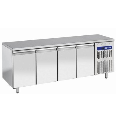Diamond Kühltisch | Edelstahl | 4 Schubladen | 200x70x(h)63/65cm - 1/1 | DELUXE