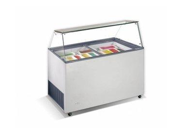 Eistheken mit Glasaufbau gerade