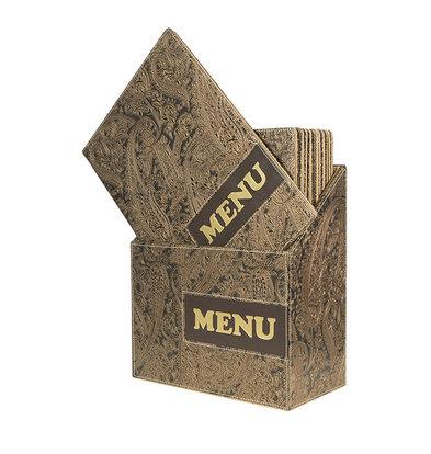 Securit Box mit 10 Speisekarten A4 Design | Paisley | 370x290x210mm