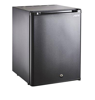 Saro Minibar Kühlschrank Tischmodell MB 50   Massivtür   402x465x(H)670mm