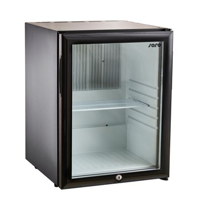 Saro Minibar Kühlschrank Tischmodell MB 30   Glastür   402x428x(H)500mm