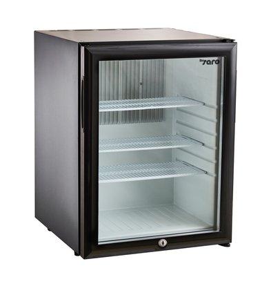 Saro Minibar Kühlschrank Tischmodell MB 40   Glastür   402x453x(H)560mm