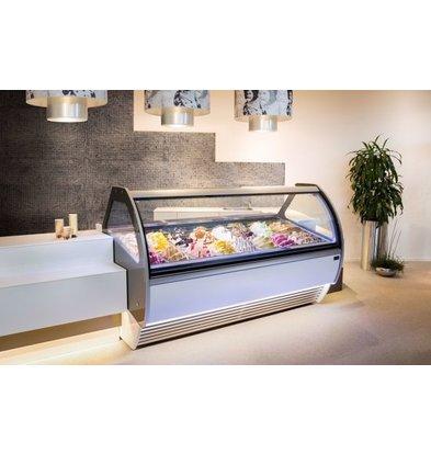 La Squadra Eistheke | Luxury 24 Gelato | Schwarz | 2205x1150x (H)1285mm