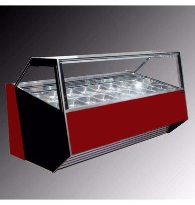 La Squadra Eistheke | La Squadra Selecta 12 Gelato | 1175x1150x(H)1155 mm | Verfügbar in 2 Farben