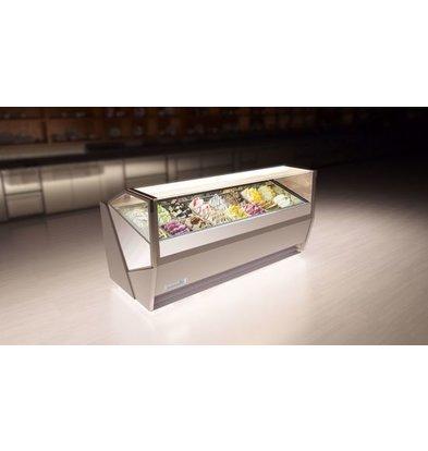 La Squadra Eistheke | La Squadra Selecta 24 Gelato | 2205x1150x(H)1155 mm | Verfügbar in 2 Farben