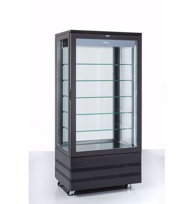 Tekna Gefrierschrank mit Glastür | EVO900 NT Schwarz 3LE | 4 Glasseiten | 900x640x(H)1950 mm