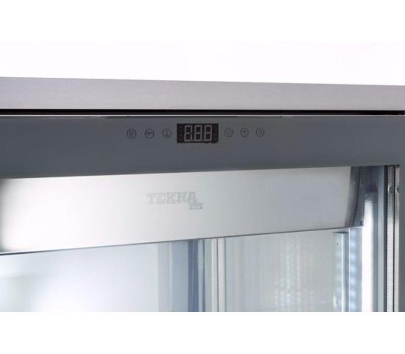 Tekna Gefrierschrank mit Glastür | EVO900 NFN TOP Schwarz 3LE | 3 Glasseiten | 900x640x(H)1500 mm