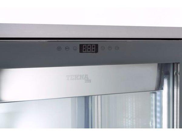 Tekna Gefrierschrank mit Glastür   EVO900 NFN TOP Schwarz 4LE   4 Glasseiten   900x640x(H)1500 mm