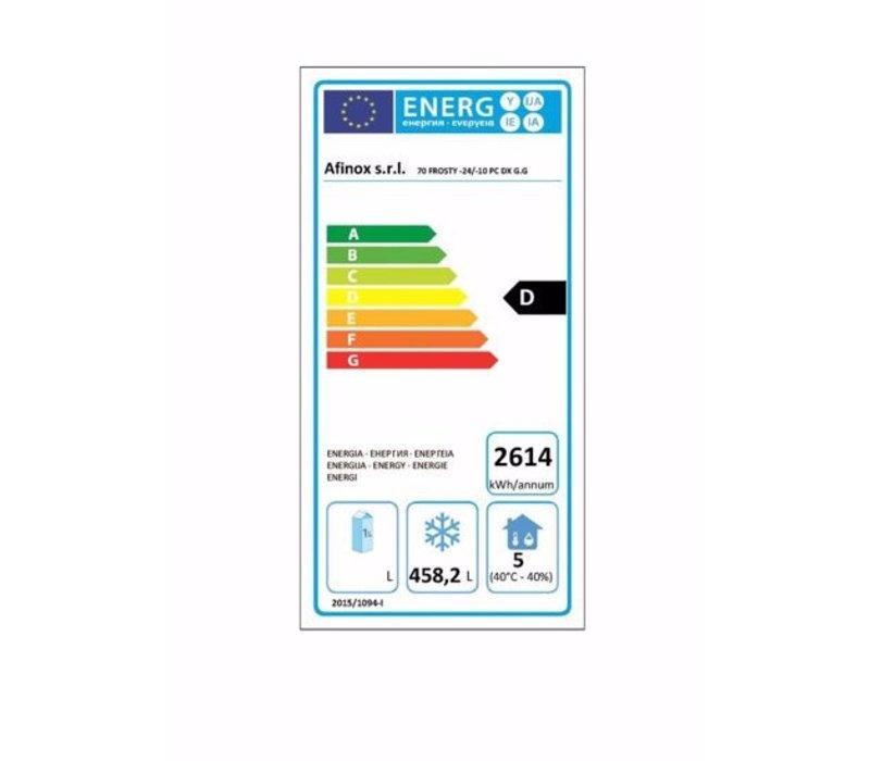 Afinox Gastro Gefrierschrank | FROSTY 700 BT PC (R) | 700 Liter | 733x839x(H)2090 mm