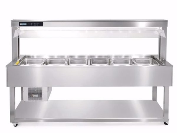 Afinox Gekühltes Buffet Insel | Edelstahl | ESSENCE GREEN PLUS 8/1 | 2144x650x(H)1326 mm