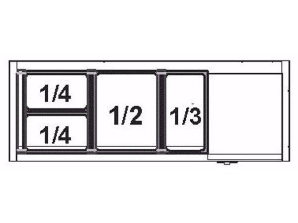 Afinox Aufsatzvitrine mit Edelstahl-Deckel | VRS 1100 / K | 4x1/3 GN 1100x395x(H)260 mm