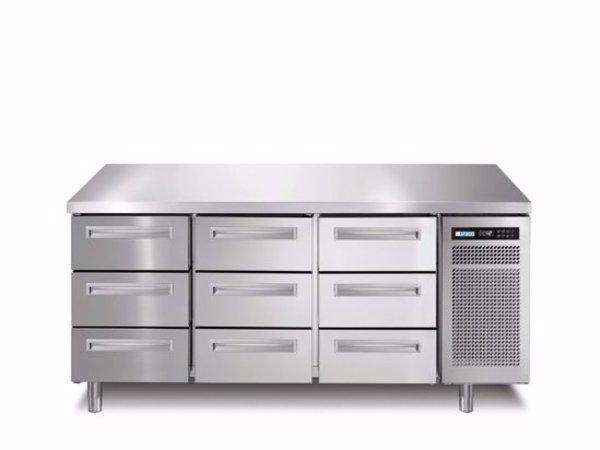 Afinox Kühltische | 3x 3 Schubladen  | SPRING 703 I/A TN 9L | 1780x700x(H)900mm