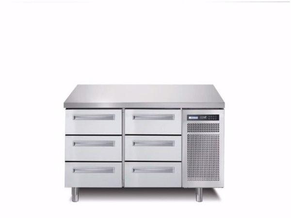 Afinox Kühltische | 2x 3 Schubladen  | SPRING 702 I/A TN 6L | 1300x700x(H)900mm
