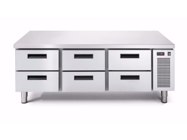 Afinox Tiefkühltisch | 3x 2 Schubladen | LINEAR SNACK 703BT/V 2C | 1600x685x(H)613mm