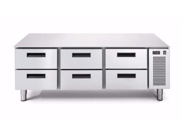 Afinox Tiefkühltisch | 3x 2 Schubladen | LINEAR SNACK 703BT/S 2C | 1600x685x(H)613mm