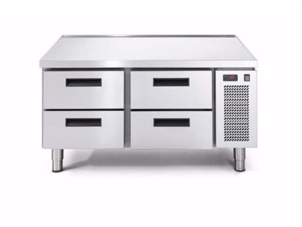 Afinox Tiefkühltisch | 2x 2 Schubladen | LINEAR SNACK 702BT/I 2C | 1200x685x(H)613mm