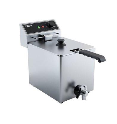 Saro Elektro Friteusse   8 Liter   Ablasshahn   3,25kW   267x420x(h)378mm