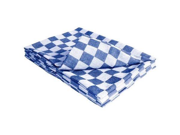 XXLselect 10 x Gastro Geschirrtücher! - Klassisches Geschirrtuch, blau / weiß kariert - 65 x 65 cm - SEHR BELIEBT!