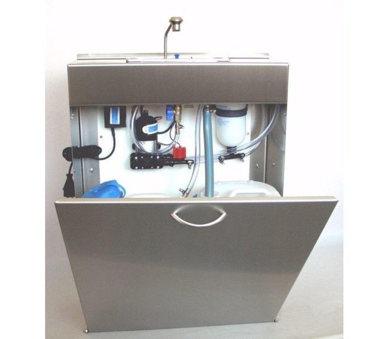 Coolselect Mobiles Löffelspülbecken mit Wassersystem | 10 Liter | 550x210x(H)750 mm