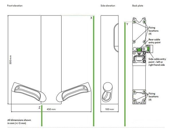 Dyson Dyson Airblade 9KJ Händetrockner | HU03 Edelstahl | Der energieeffizienteste Händetrockner