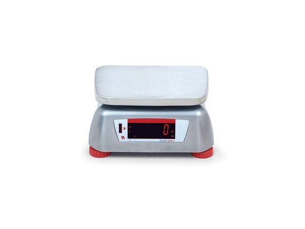 Ohaus Valor 4000 Waage | Maximal 3 kg Anzeige pro 0,5 G | Edelstahl-Gehäuse mit Edelstahl-Auflagefläche | 242x190 mm