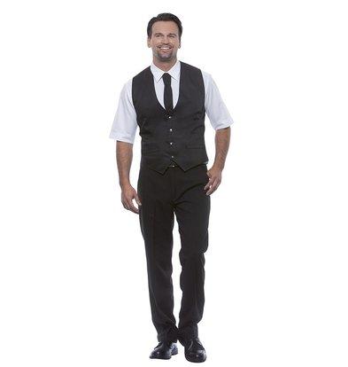 XXLselect Herrenweste Kai | Schwarz | 65% Polyester / 35% Baumwolle | Erhältlich in 12 Größen