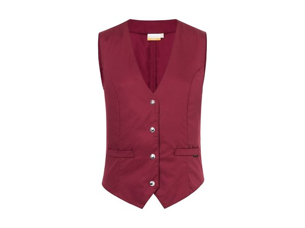 Karlowsky Damenweste Lena   Bordeaux   65% Polyester / 35% Baumwolle   Erhältlich in 10 Größen