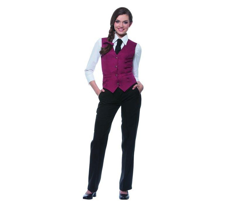 XXLselect Damenweste Lena | Bordeaux | 65% Polyester / 35% Baumwolle | Erhältlich in 10 Größen