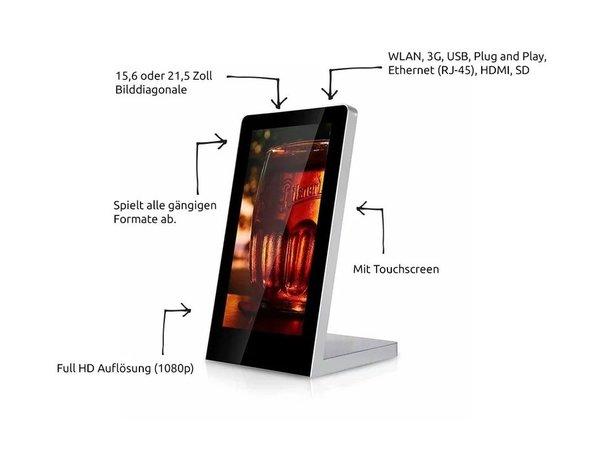 Mydisplays Digitales Tisch Informationstafel | Full HD Auflösung Verfügbar in 2 Größen