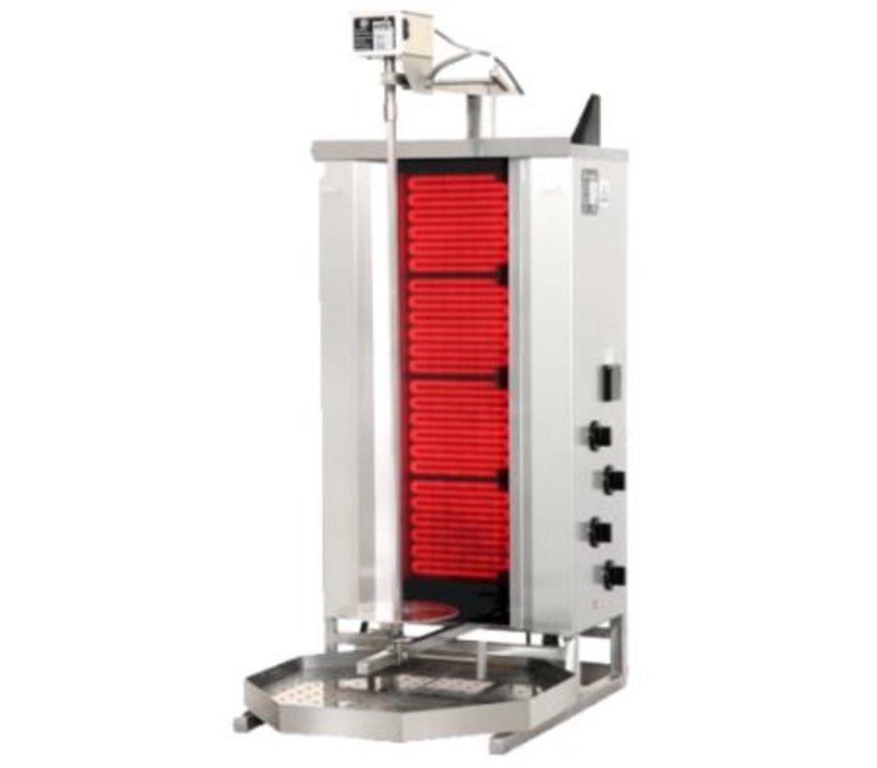 Potis Gyros-Grillgerät Elektro F CE4 | 7,6 kW-400/230V | Motor unten | Heizelemente verschiebbar