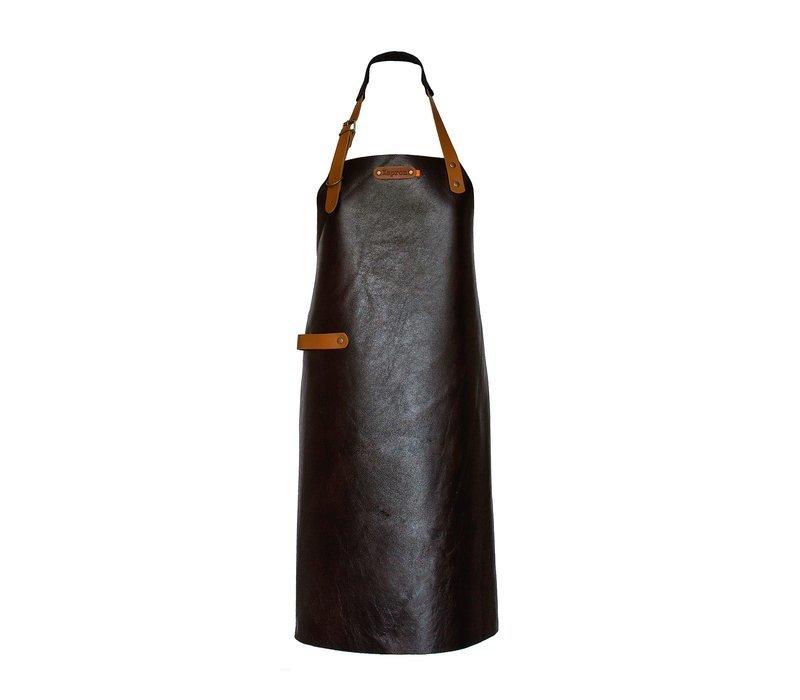 Xapron Leder Schürze New York Braun   Erhältlich in 4 Größen
