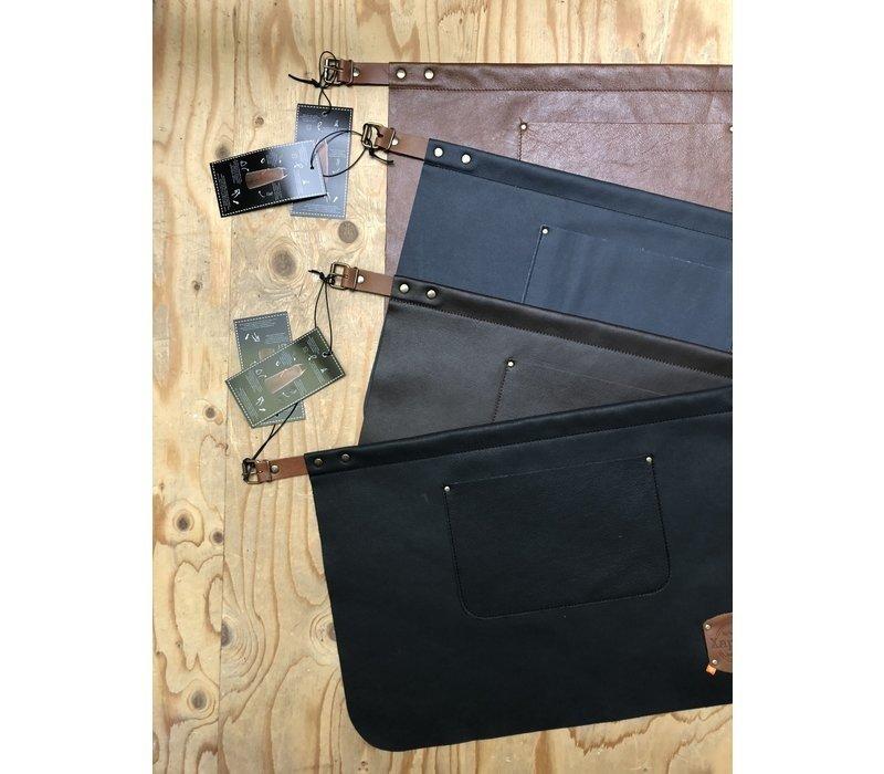Xapron Leder Schürze Kansas Schwarz   Erhältlich in 4 Größen