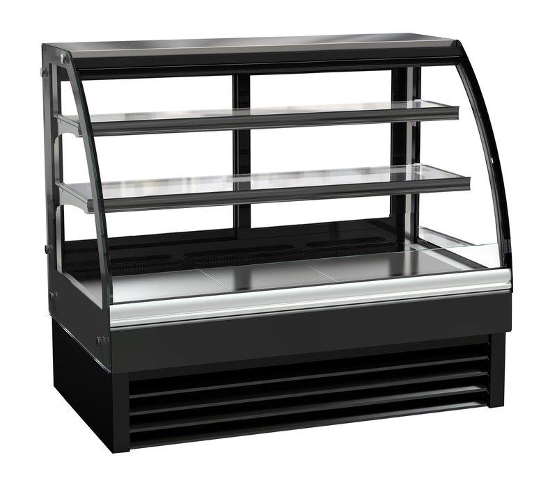 Combisteel Kühlvitrine | Glas gebogen | Schwarz | 236 Liter | 1200x680x(h)1200mm