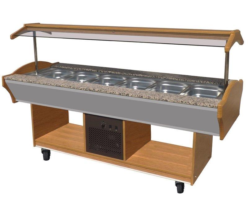 Combisteel Salatbar   GN 6/1   2200x900x(h)850/1350mm
