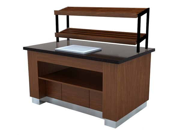 Combisteel Brotbuffet | Farbe Wenge | 1600x1000x(h)900mm