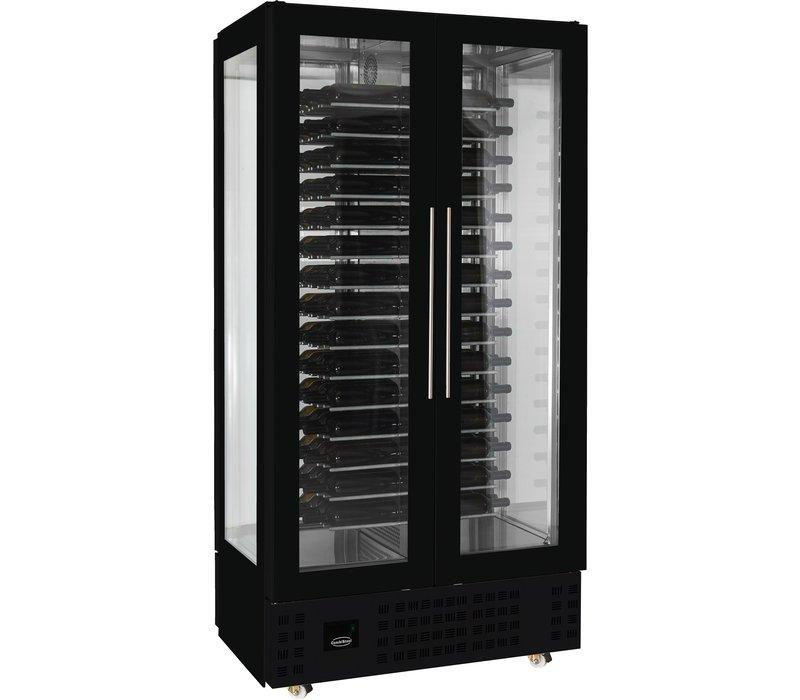 Combisteel Weinkühlschrank | Geeignet für 120 Flaschen | Schwarz | 1000x620x(h)2060mm