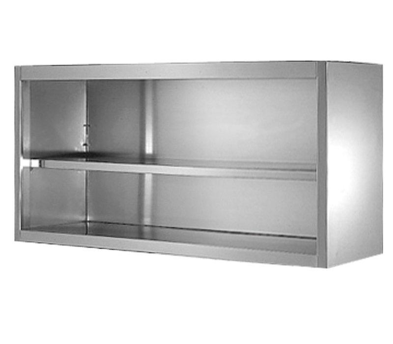 GGG Wandhängeschrank Edelstahl | Offen | Tiefe 400 mm | Erhältlich in 9 Größen