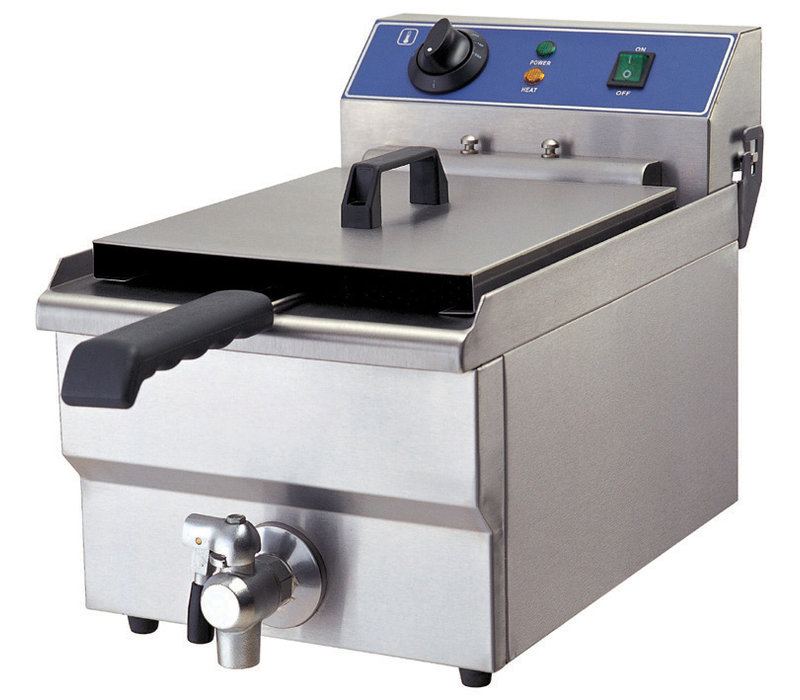 GGG Elektro Fritteuse | 6 Liter | Ablasshahn | 280x460x325mm | 230V-3,2kW
