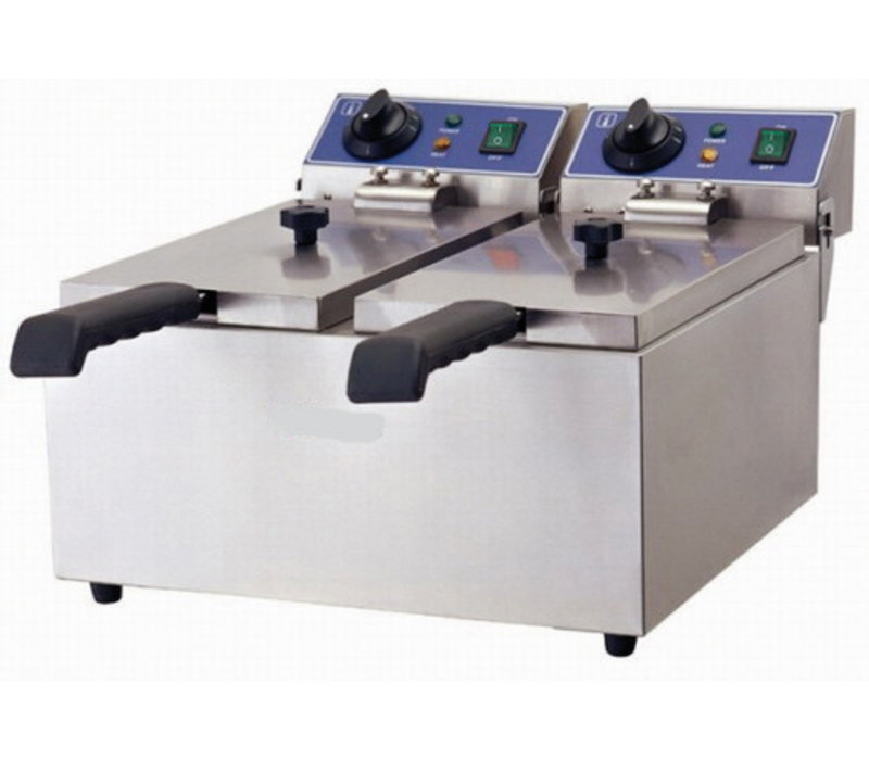 GGG Elektro Fritteuse | 2x 5 Liter | 480x420x310 mm | 230V-3+3kW