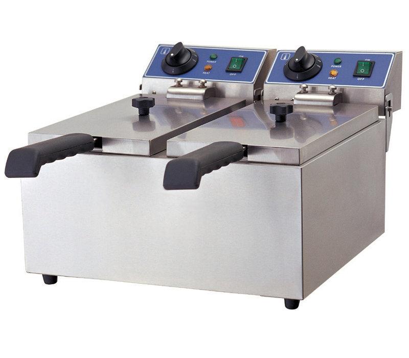 GGG Elektro Fritteuse | 2x 3,5 Liter | 380x440x270 mm | 230V-2+2kW