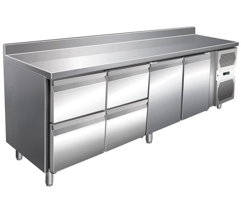 GGG Kühltisch Edelstahl   2230x700x860 mm   616 Liter   4 Schubladen