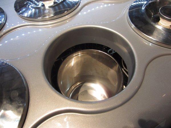 Framec Edelstahl Eisbehälter   7,5 Liter   H250 x 200mm rund