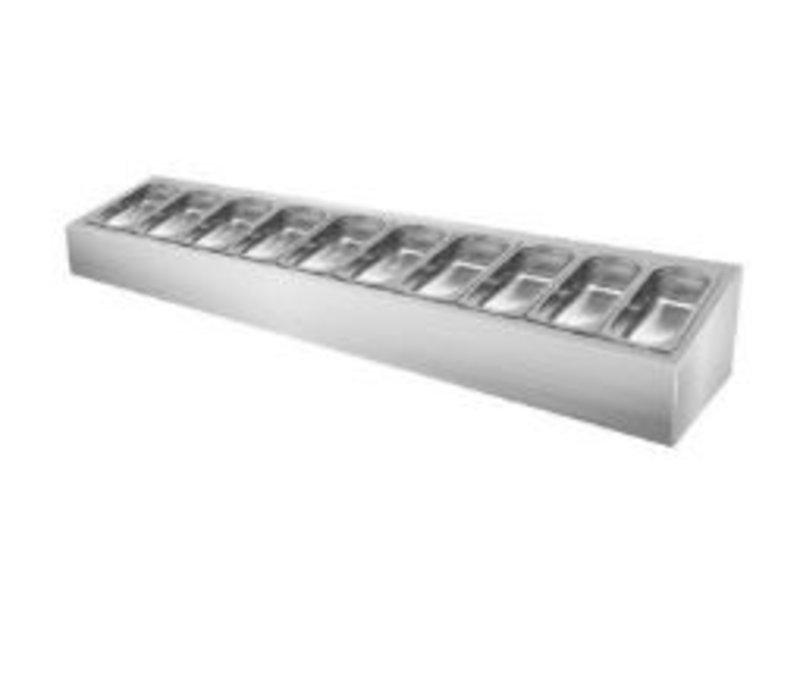 GGG Gewürz-Aufsatzbord | 10x 1/4 GN | Ohne Deckel