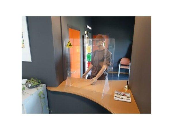 XXLselect Transparenter Schutzwand / Spuckschutz   Leicht zu montieren   750x800mm