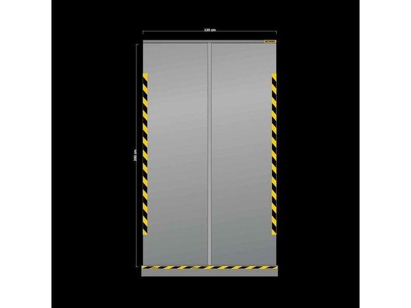 XXLselect Transparente einziehbare Schutzwand | 1200x(H)2000mm