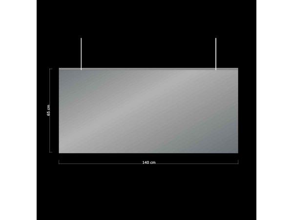 XXLselect Flexible Trennwand hängend |Transparentes PVC | 1400 mm