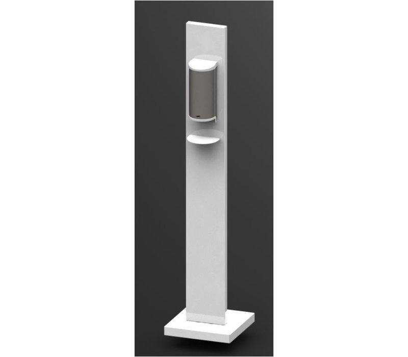 Saro Desinfektionsmittelspender | Weiß | 800ml | 305x305x(h)1300mm